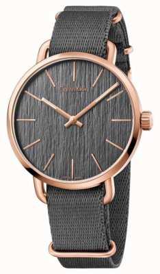 Calvin Klein Il quadrante grigio della manica è anche grigio K7B216P3