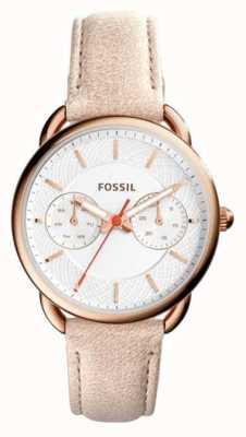 Fossil Womens luce su misura cinturino in pelle marrone ES4007