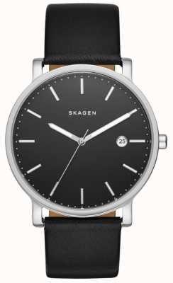 Skagen Mens Hagen orologio cinturino in pelle nera SKW6294