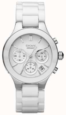 DKNY Womans quadrante del cronografo bianco cinturino bianco NY4912