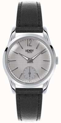 Henry London Womans quadrante grigio cinturino in pelle grigia HL30-US-0073