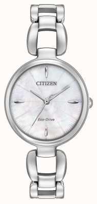 Citizen Delle donne bracciale in acciaio quadrante in madreperla EM0420-54D
