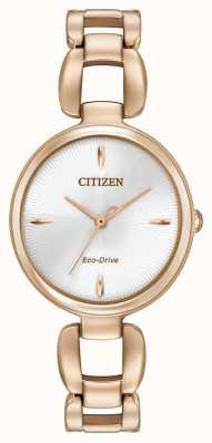 Citizen Womens rosa pvd oro braccialetto placcato EM0423-56A