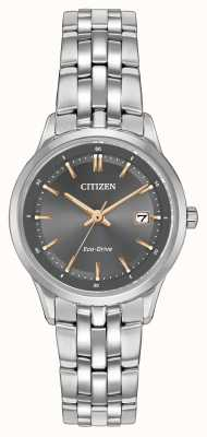 Citizen Orologio da donna in acciaio inossidabile ex-display EW2400-58H Ex-Display
