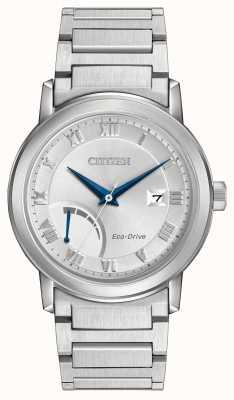 Citizen Mens braccialetto Eco-Drive in acciaio inox AW7020-51A