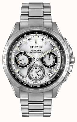 Citizen F900 onda satellitari argento Mens Eco-Drive CC9010-74A