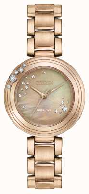 Citizen Womens Eco-Drive a sei diamanti in oro placcato EM0463-51Y