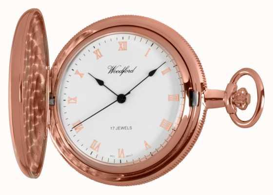 Woodford cacciatore di rosa pieno orologio da tasca in oro 1091