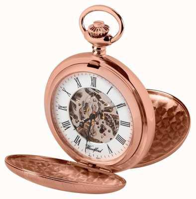 Woodford Doppia cacciatore rosa orologio da tasca in oro 1090