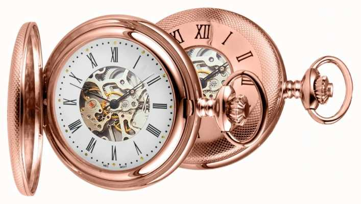Woodford Mens PVD oro rosa placcato orologio analogico meccanico a carica manuale 1092