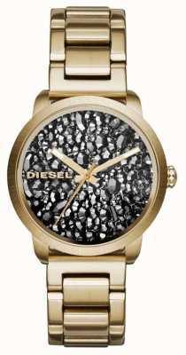 Diesel placcato oro Womans quadrante cinturino in acciaio modellato DZ5521