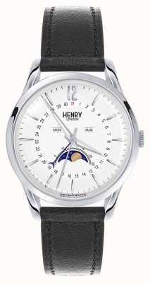 Henry London Edgware cassa in acciaio cinturino in pelle nera HL39-LS-0083