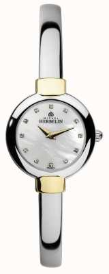 Michel Herbelin Womens Salambo braccialetto di due toni 17410/BT59