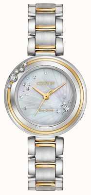Citizen Delle donne diamante carina due toni EM0464-59D