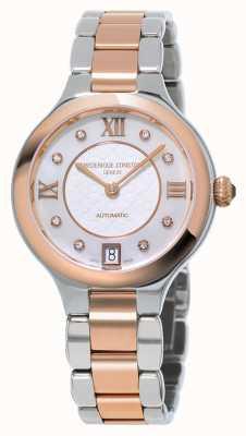 Frederique Constant I classici delle donne deliziano il diamante in due tonalità FC-306WHD3ER2B