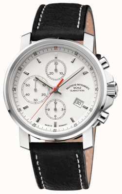 Muhle Glashutte quadrante bianco cinturino in pelle cronografo 29er M1-25-41-LB