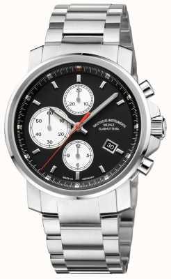 Muhle Glashutte Cronografo 29er cinturino in acciaio inossidabile quadrante nero M1-25-43-MB
