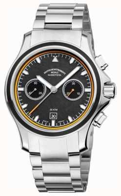 Muhle Glashutte quadrante banda carbonio acciaio inossidabile del cronografo Promare M1-42-04-MB