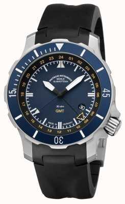 Muhle Glashutte Seebataillon quadrante blu elastico indiano GMT M1-28-62-KB