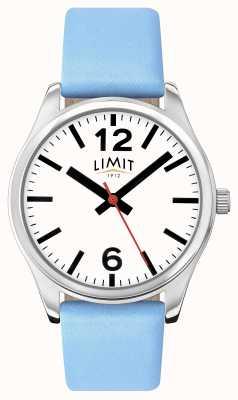 Limit Delle donne quadrante bianco blu cinturino 6182.01