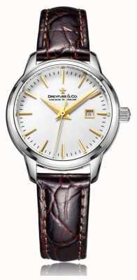 Dreyfuss Signore svizzero orologio realizzato con cinturino marrone DLS00125/02