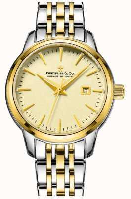 1890 - Dreyfuss signore due tono oro orologio placcato DLB00126/03