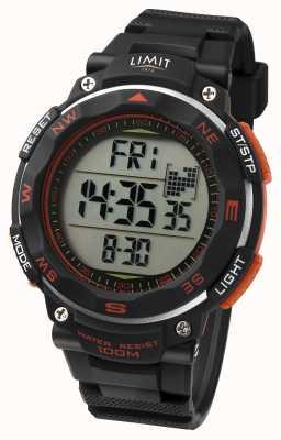 Limit Orologio sportivo da uomo cinturino nero dettaglio arancione 5485.66
