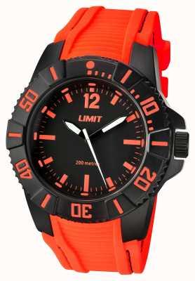 Limit Maschio attivo cinghia arancione nero quadrante 5547.02