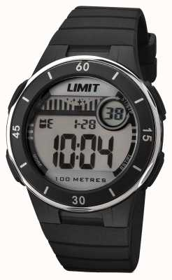 Limit Quadrante digitale unisex cinghia nera 5556.24