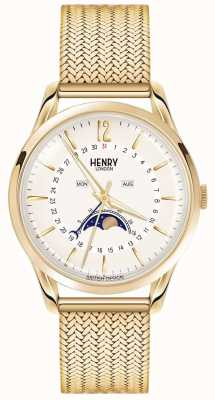 Henry London Mens fase lunare oro pvd placcato HL39-LM-0160