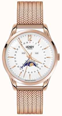 Henry London Mens fase lunare PVD oro rosa placcato HL39-LM-0162