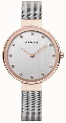 Bering Delle donne maglia di acciaio inossidabile quadrante argentato cinturino 12034-064