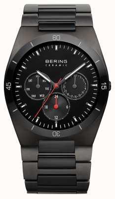 Bering Mens IP nero quadrante nero cromato 32341-792
