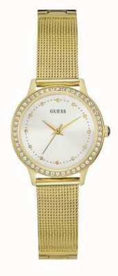 Guess Set di pietra bianca in cinturino in oro di Womans chelsea W0647L7