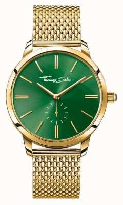 Thomas Sabo Womans cinturino oro maglia linea verde in acciaio spirito glam WA0275-264-211-33