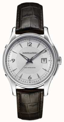 Hamilton Jazzmaster Mens d'argento viewmatic cinturino in pelle quadrante H32515555