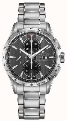 Hamilton Mens broadway automatico cronografo cinturino in acciaio quadrante nero H43516131