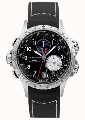 Hamilton Cronografo flyback eto cachi da uomo con cinturino in caucciù nero H77612333