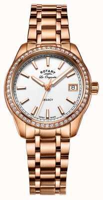 Rotary Womens eredità rosa placcato oro in acciaio inox LB90176/01