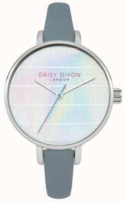 Daisy Dixon Womens kylie cinturino in pelle blu quadrante multicolore DD024US