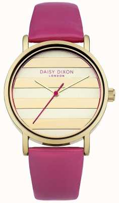 Daisy Dixon Delle donne quadrante in oro rosa, cinturino in pelle di papavero DD009PG