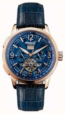 Ingersoll Mens 1892 il regent blue dial cinturino in pelle blu I00301