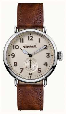 Ingersoll Il cronografo degli uomini è il quadrante in cotone di cuoio marrone trenton I03301