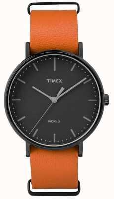 Timex Quadrante nero fairfield unisex settimanale TW2P91400