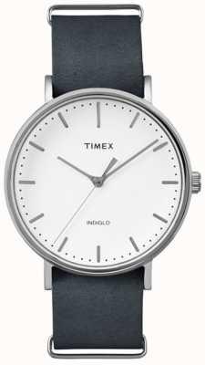 Timex Quadrante bianco unisex weekender fairfield TW2P91300