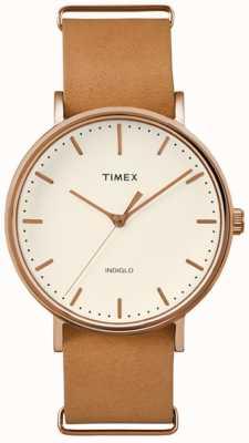 Timex Quadrante di crema di fairfield del weekender unisex TW2P91200