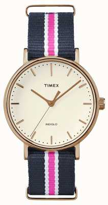 Timex Womans weekender Fairfax cinghia marina rosa TW2P91500
