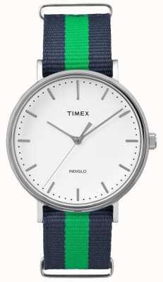 Timex Cinturino verde unisex di weekender fairfax TW2P90800