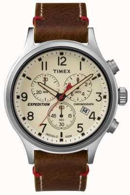 Timex Mens quadrante crema esploratore del cronografo TW4B04300