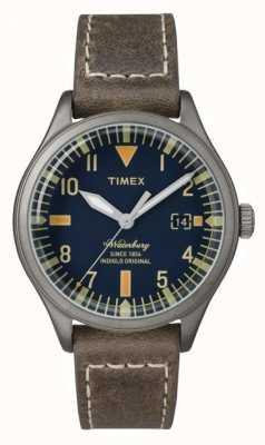 Timex UNISEX la marina Waterbury quadrante cinturino marrone TW2P84400